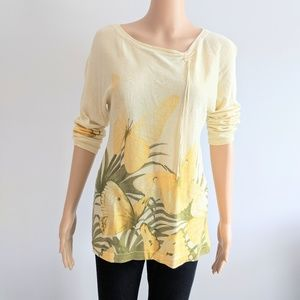 Tommy Bahama lightweight dropped shoulder top